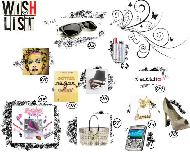 wishlist -  Lista de desejos